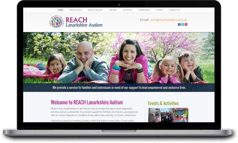 Website Design for REACH Lanarkshire Autism