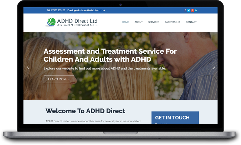 Website Design for ADHD Direct