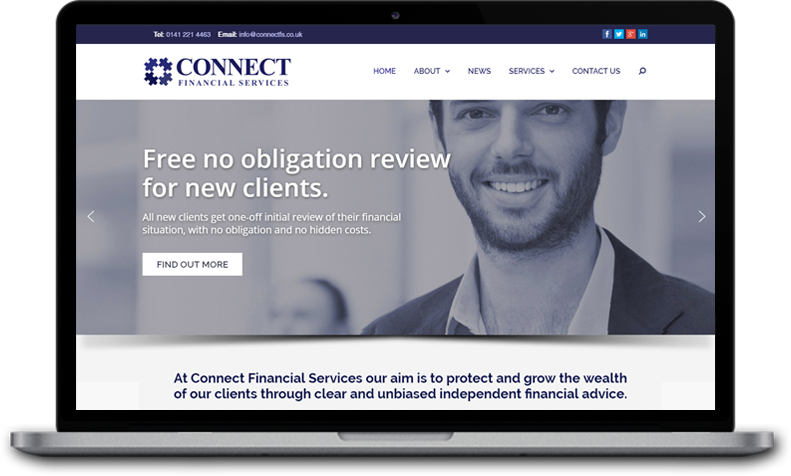 Website Design for Connect Financial Services Glasgow