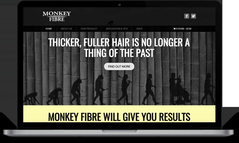 Website Design for Monkey Fibre