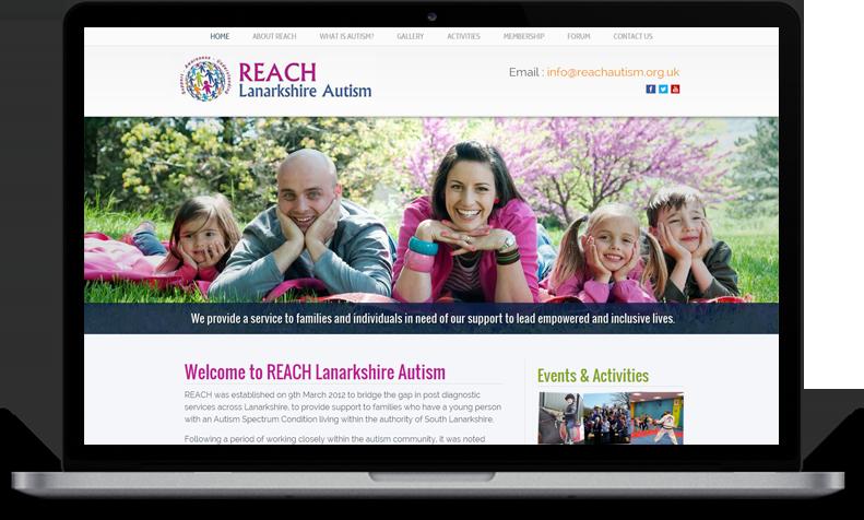 Website Design for REACH Lanarkshire Autism