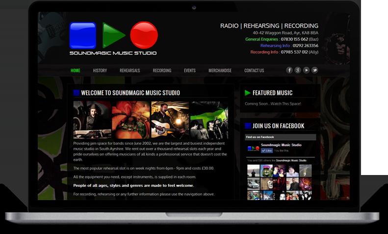 website for music studio ayr