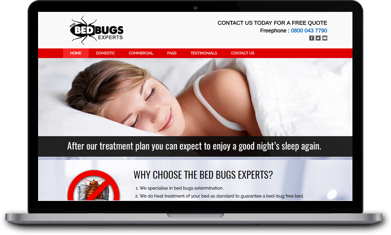 Website Design for The Bed Bugs Experts Scotland